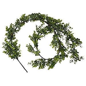 MelonLuchi 6ft Artificial Eucalyptus Garland Decor Fake Leaves Hanging Greenery Decoration 8