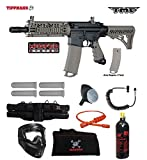 Tippmann TMC MAGFED Specialist Paintball Gun Package - Black / Tan