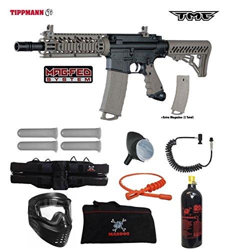 Tippmann TMC MAGFED Specialist Paintball Gun Package - Black / Tan by MAddog