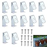 """Sumnacon Flower Pot Clips, Hard Steel Durable Plant Pot Latch Hangers Hook, Holds 5"""" to 8"""" Clay PotS, Terra Cotta Pots with A Lip Around The Edge (12) (12, Silver)"""