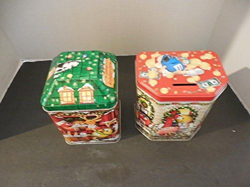 Two MMs Metal Christmas Canisters, Bank 2003