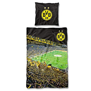 Borussia Dortmund Bvb Bettwasche Sudtribune 135 X 200 Cm One Size