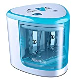 Electric Pencil Sharpener,Heavy duty Blades Durable and Portable Pencil Sharpener with Automatic Sharpens All Pencils for School Kids Children,Blue Pencil Sharpener Electric