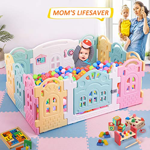 (DreamHouse Kiddie Activity Centre Playpen Home Baby Safety Playards (Castle Style))