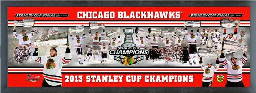 38in Framed - Chicago Blackhawks 2013 Stanley Cup Champions Team Composite Photo 14