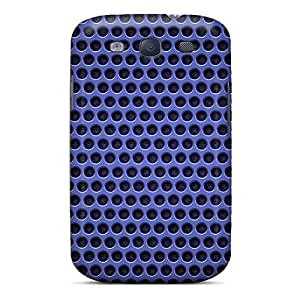 Protective Tpu Case With Fashion Design For Galaxy S3 (blue Metal Mesh)