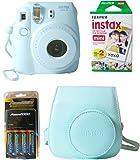Fujifilm Instax Mini 8 Instant Film Camera (Blue) 4 Pack Bundle