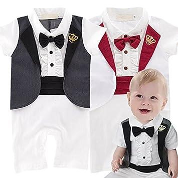 4ce3643a6b9a3 春 夏 かっこいい 王子様 風 半袖 スーツ & ロンパーススーツ フォーマル ≪子供服 結婚