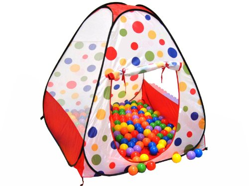EGOODBEST Kids Ball House Hideaway Pop Up Play Tent Cubby...