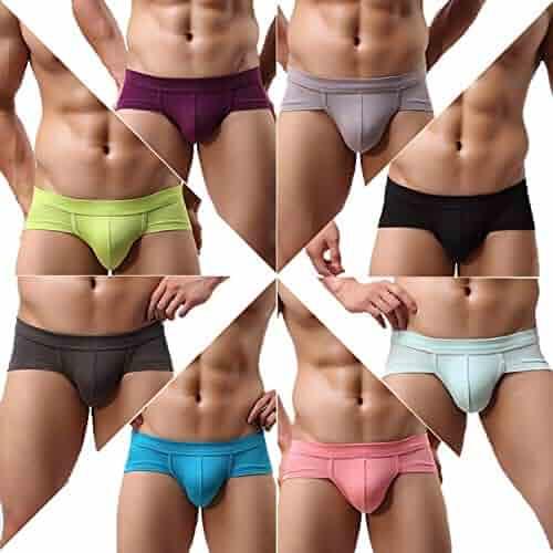 a612796e4d0 FOCUSSEXY Men's Seamless Bulge Pouch Boxer Briefs Shorts Underwear 2601