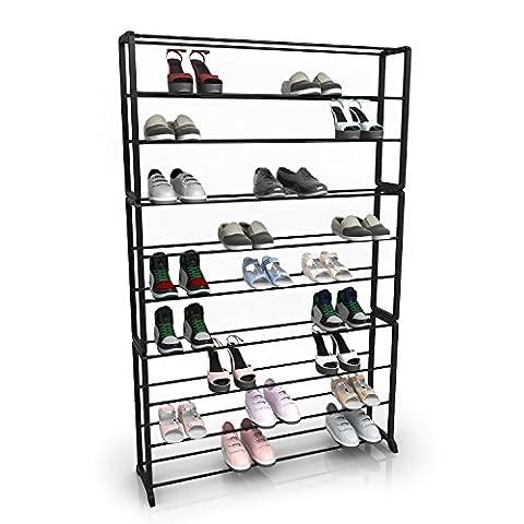 Homdox 10 Tiers Shoe Rack Storage Organizer Shoes Shelf,Strong & Sturdy Space Saver