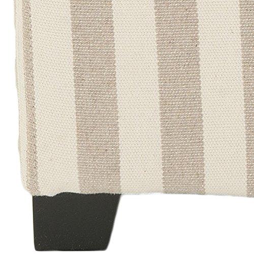 Safavieh Hudson Collection Harrison Cream & Tan Stripe Single Tray Ottoman by Safavieh (Image #3)