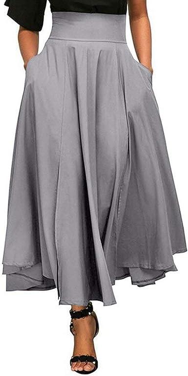 Lounayy Faldas Mujer Verano Hoody Elegantes Anchas Ocasional ...