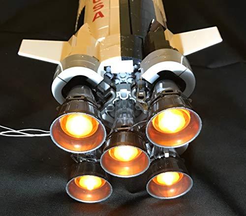 (brickled Light Kit for Lego Ideas NASA Apollo Saturn V 21309 (Lego Set not Included))