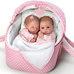 Waltraud Hanl Lifelike Lullaby Twins Baby Girl Doll Set Featuring Heather And Hannah by The Ashton-Drake Galleries