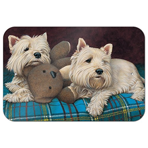 (Graphics and More Westie West Highland White Terrier Dogs Teddy Bear Home Business Office Sign - Metal - 6