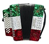 Rizatti Bronco RB31GM Diatonic Accordion - Mexican Flag - Key G/C/F