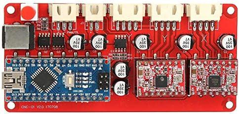 Jadpes Drive Board Controller, Graviermaschine Motherboard Driver Controller Board mit T-Kabel für Smart Car Power UNOs MEGA R3 Mega2560