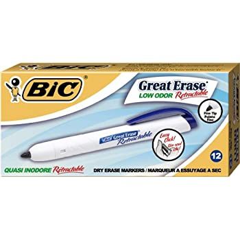 Amazon.com : BIC Great Erase Retractable Fine Point Dry