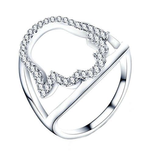 [AmDxD Jewelry Silver Plated Engagement Rings for Women Hollow Palms White Gold Size 9] (Gay Star Wars Costume)