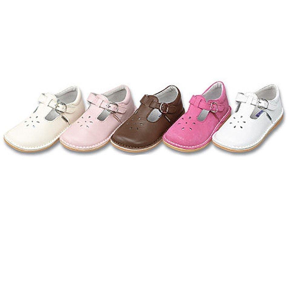L'Amour Toddler Girls Ecru Buckle Flower Cutout Shoes 6