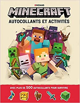 Amazon Com Minecraft Autocollants Et Activites