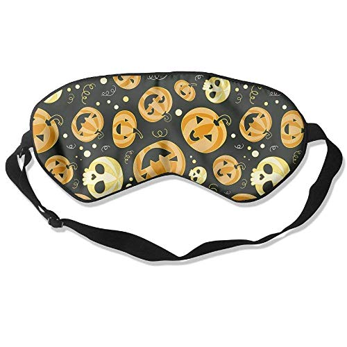 FFR EGM HAQSK CUFD Comfortable Sleep Eyes Masks kawaii Halloween Pumpkin Pattern Sleeping Mask for Tourism,Enjoy time]()