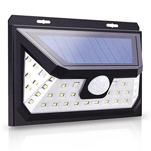 LOHAS Solar Motion Light Outside, Smart Sensor Sunlight LED Bulb, Multicolored Waterproof Solar Lights, 4 Modes, 39 LED Security Lighting for Yard, Garden, Front Door by LOHAS