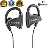 Bluetooth Headphones,Wireless Sports Earphones Pure HD Stereo Sound IPX5 Waterproof for Gym Running Workout 12 Hours Playback 300 Hours Standby Time Noise Cancelling Headsets Black