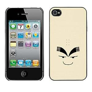 Paccase / SLIM PC / Aliminium Casa Carcasa Funda Case Cover para - Funny Face - Apple Iphone 4 / 4S