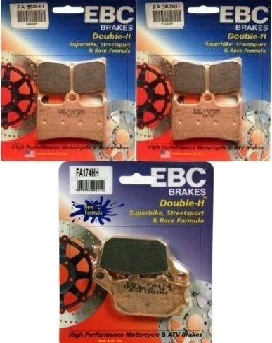 EBC Double HH Front + Rear Brake Pads (3 Sets) 2004-2006 Yamaha R1 / FA380HH + FA174HH by EBC Brakes