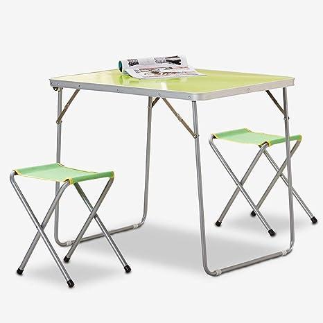 YL Conjunto de sillas y mesas Plegables para Exteriores ...