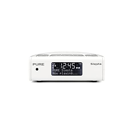 Pure Siesta Reloj Digital Blanco - Radio (Reloj, Digital, DAB,DAB+,