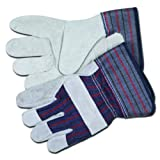 Split Leather Palm Gloves, Gray by Memphis