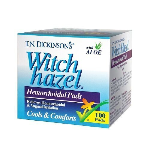 T.N. Dickinson's Witch Hazel Hemorrhoidal Pads 100 ea by T.N. Dickinson's