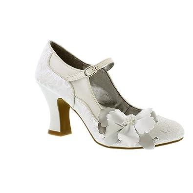 404ab495c37f2 Ruby Shoo Madelaine Damen Schuhe Metallisch: Amazon.de: Schuhe ...