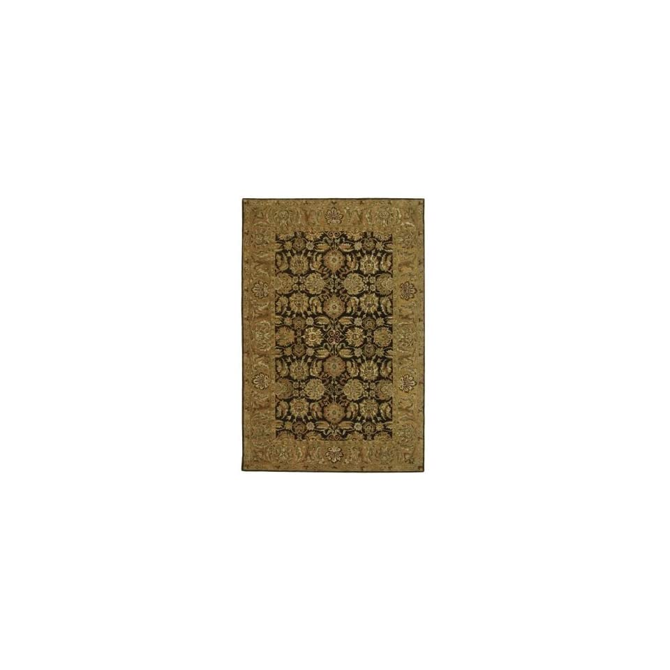 Safavieh Anatolia AN615B Dark Brown and Gold Traditional 96 x 136 Area Rug