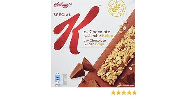 Special K - Barrita De Cereales Chocolate Con Leche, 6 x 20 g: Amazon.es: Alimentación y bebidas