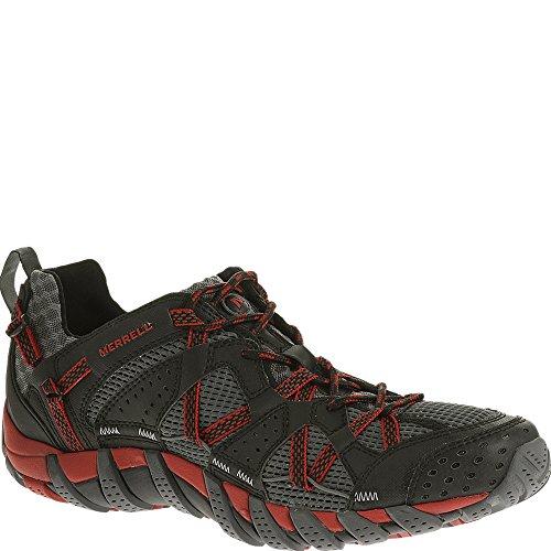 (Merrell Men's Waterpro Maipo Water Shoe, Black/Red, 9.5 M US)