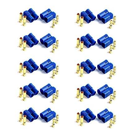 4 Paar 8 Stück Original XT60 Goldstecker Schwarz Lipo Akku Stecker Buchse Black