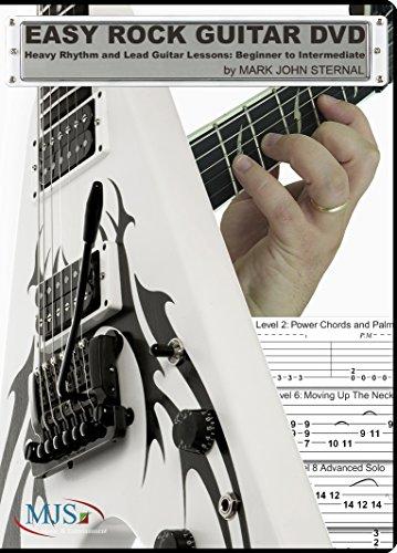 Easy Rock Guitar DVD: Heavy Rhythm and Lead Guitar Lessons: Beginner to Intermediate (Intermediate Rhythm Guitar Dvd Rock)