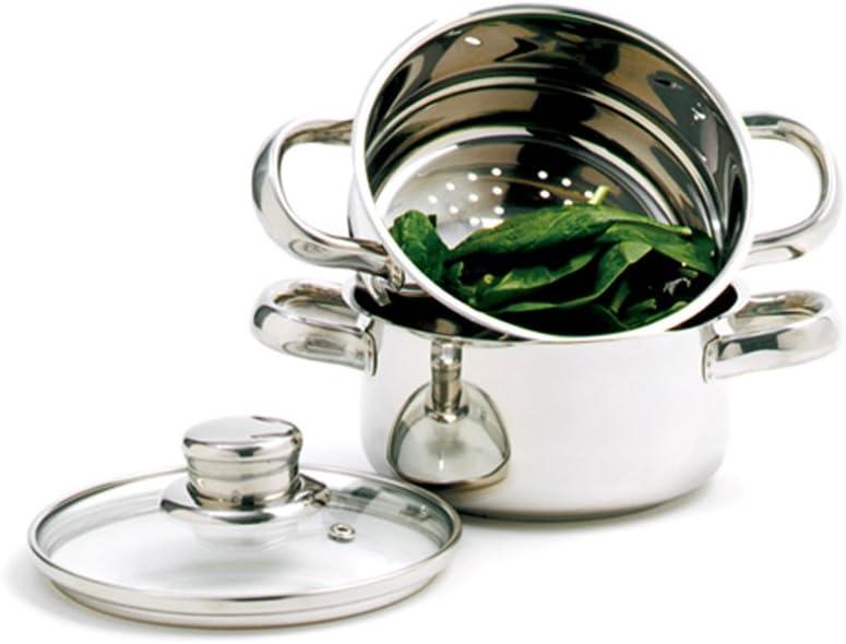 Norpro 1-Quart Stainless Steel Mini Steamer Cooker, 3 Piece Set