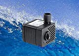 Perfect New Fish Tank Aquarium 53 GPH Submersible Pump Powerhead Fountain Water Hydroponic ADJUSTABLE SPEED