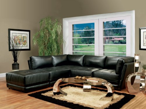 Inland Empire Furniture Parker BlaCalifornia King Bonded Leather Modular Sofa Sectional