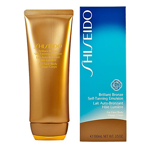Shiseido Brilliant Bronze Self-tanning Emulsion (for Face and Body) Tanner for Unisex, 3.5 Ounce Brilliant Bronze Self Tanning