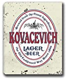 KOVACEVICH Lager Beer Stretched Canvas Sign
