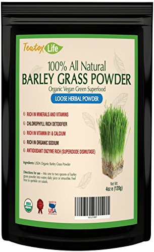 Barley-Grass-Juice-Powder-Green-Superfood-Barley-Grass-Powder-Alkaline-Supplement-powder-raw-vegan-antioxidant-4oz-USDA-Organic-Made-in-USA