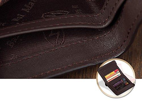 Hombres C Protector Dinero Carteras Rfid 10x12cm Crédito Carteras Bloqueo 4x5inch Viaje Tarjeta Cuero Excelente Caso A Genuino S7xawPI
