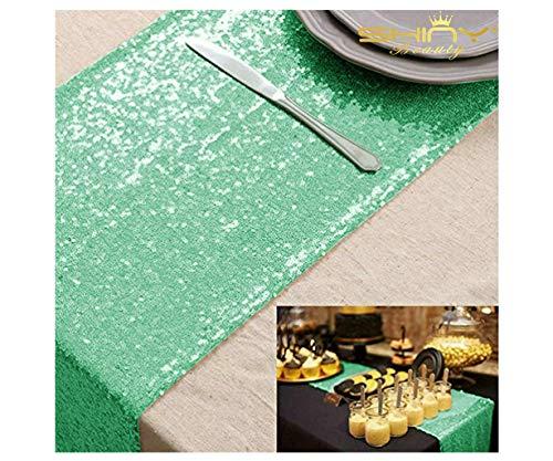 Mint Green Wedding Decorations - 12''*72'' Mint Green Sequin Table Runner