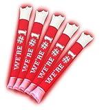 Brite Boltz - Spirit Red & White Team Light Up Spirit Bang Sticks - Party School Cheering Sticks 10 pack